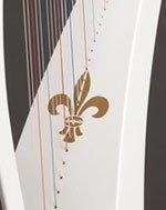Artwork on painted white Delight carbon fiber harp