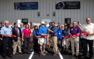 carbon fiber fabrication facility, ribbon cutting ceremony