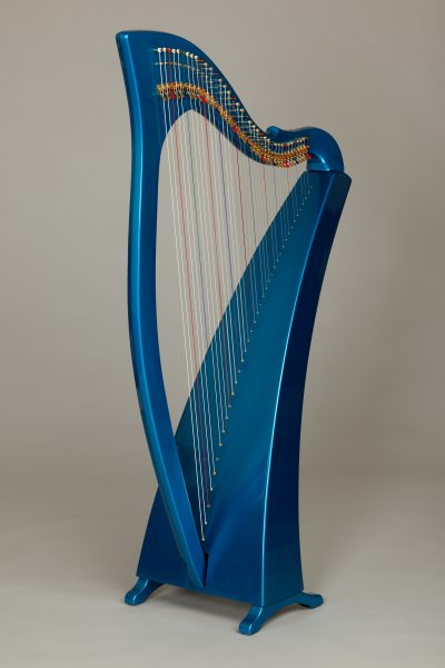 painted carbon fiber harp