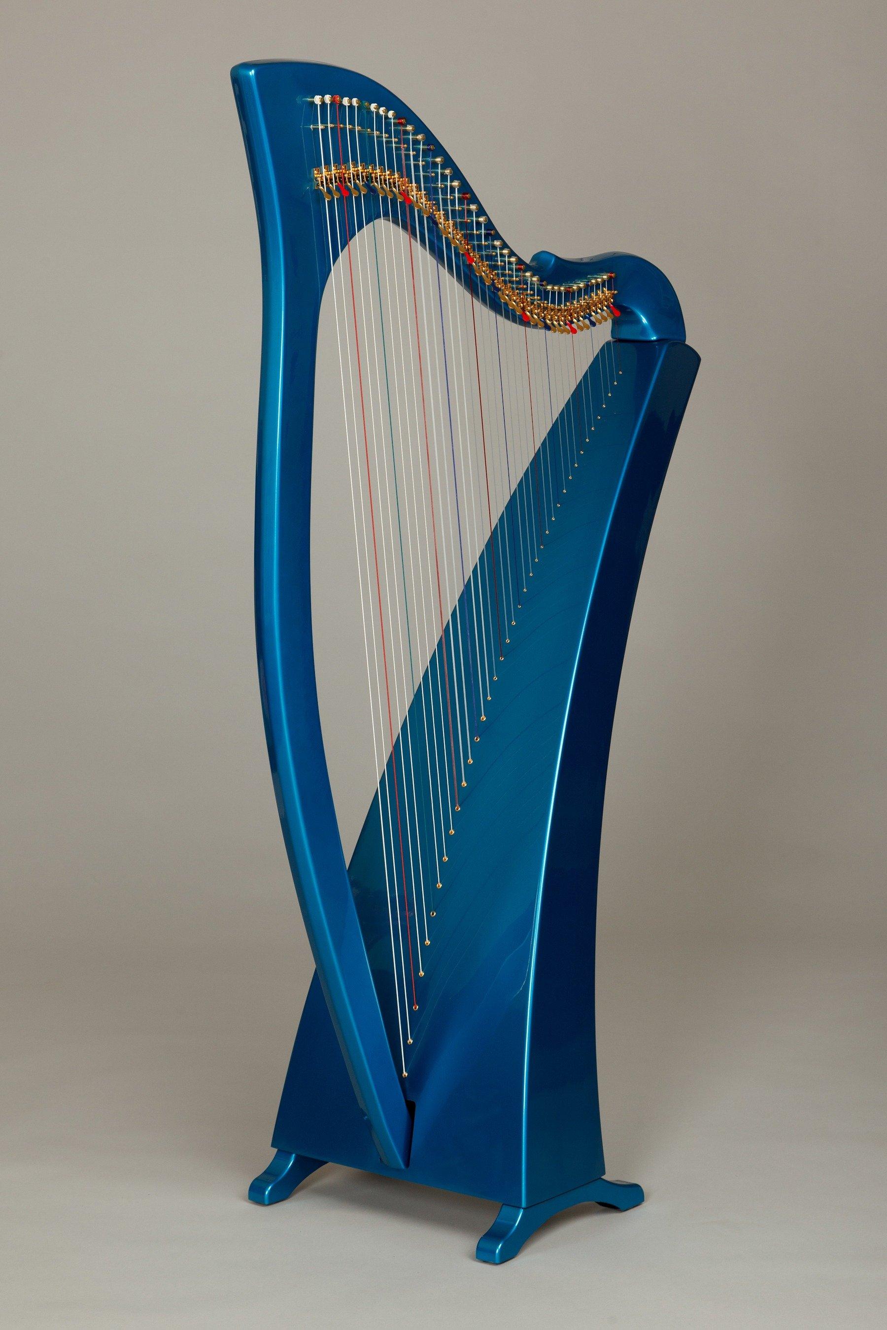 painted carbon fiber harp