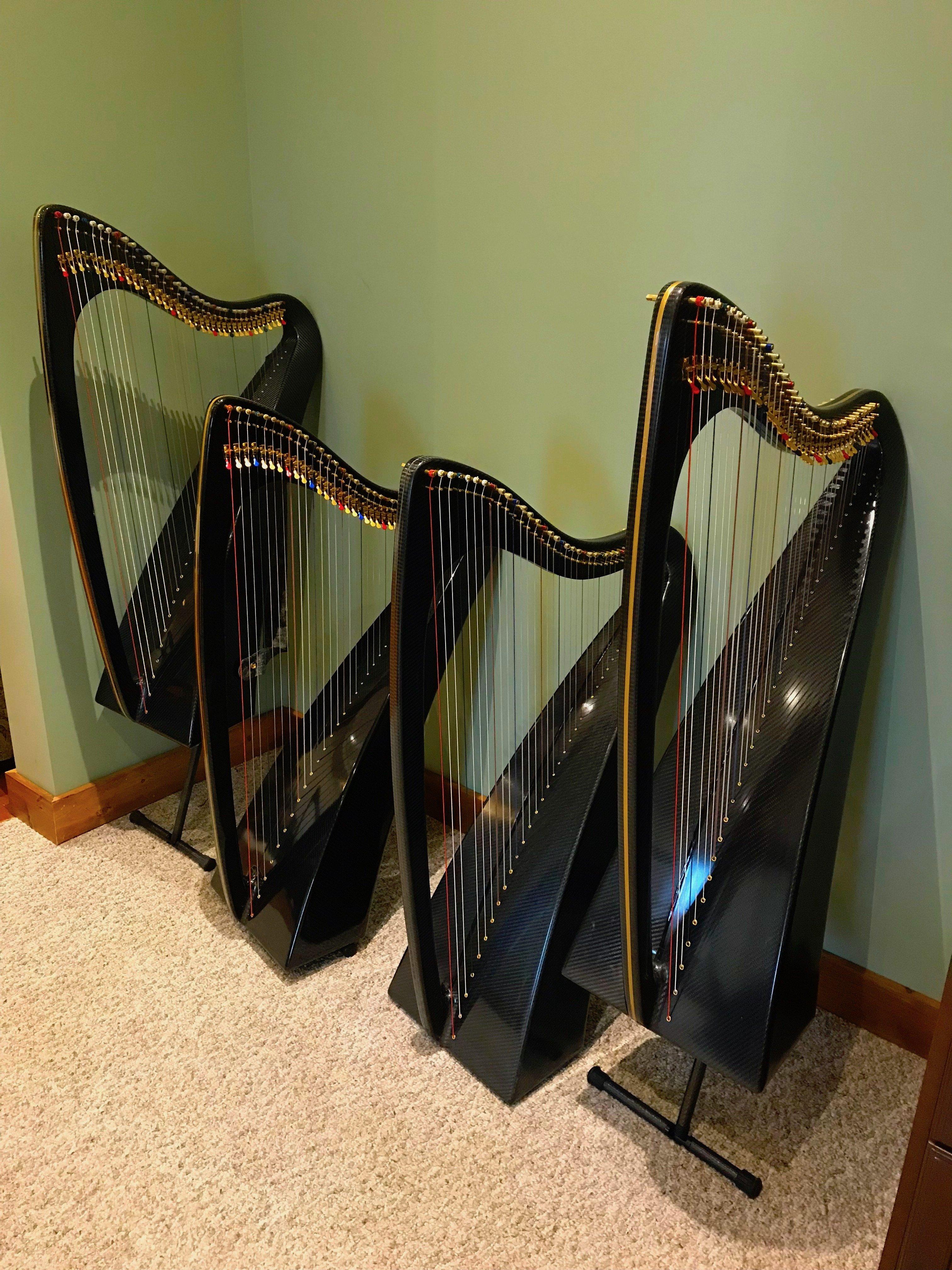carbon fiber harps