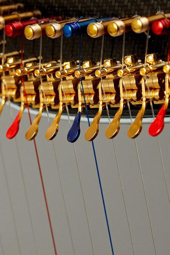 Gold bridge pins, Gold Truitt levers