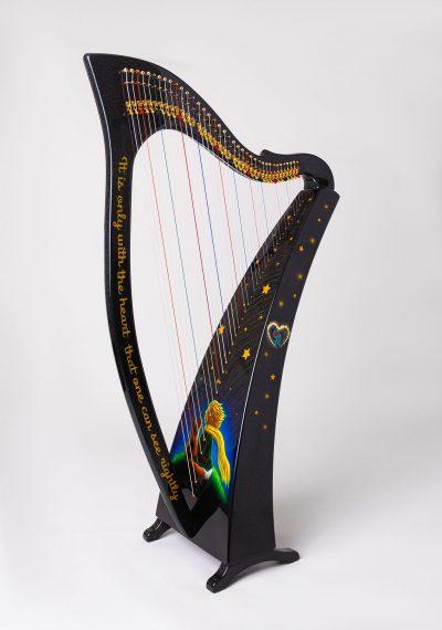 lightweight harp, carbon fiber harp