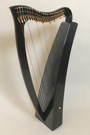 lightweight harp, carbon fiber harp, therapy harp